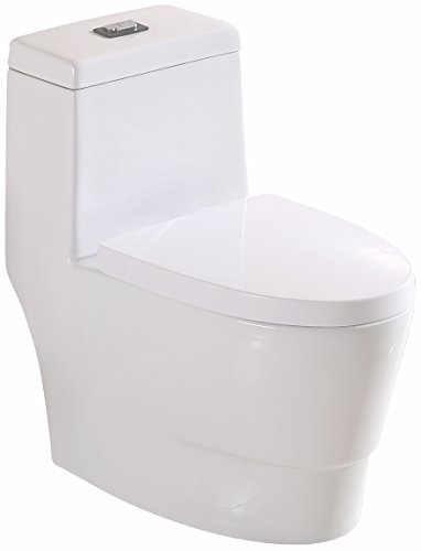 Minixi Lift Up Automatically(None Electric) One-Piece Toilet with Seat, White