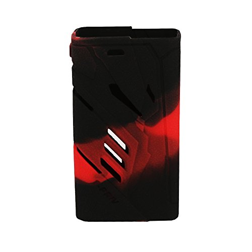 Smok T-Priv 220W Case Protective Silicone Case For Smoktech T-Priv 220W With 2 Pcs Slicone Rings (Black + Red)