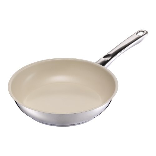 Kuhn Rikon Stainless Steel Fry Pan - Kuhn Rikon Inox Ceramic Frying Pan, 7.87