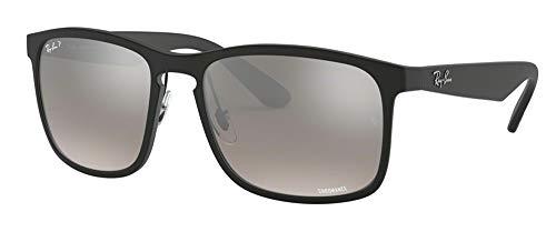 Ray-Ban RB4264 601S5J 58M Matte Black/Blue Mirror Gold Gradient Polarized Sunglasses For Men For Women (Ray-ban Sonnenbrille Männer)