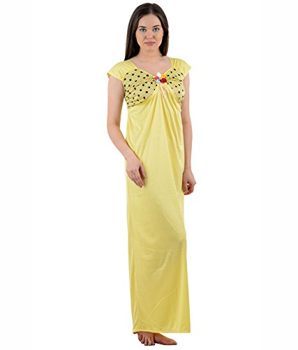 American-Elm Women s Nightdress (AENTY-50 Yellow S-XL)  Amazon.in  Clothing    Accessories 630840869