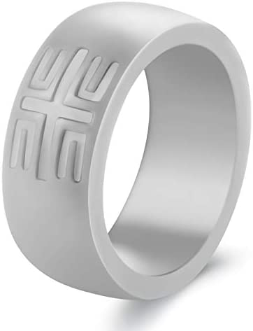 Silicone Wedding Bands 1 Pack// 4 Pack YesFit Silicone Wedding Ring for Men