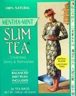 Hobe Labs Slim Tea, Mentha-Mint 24 Tea Bags by Hobe Labs