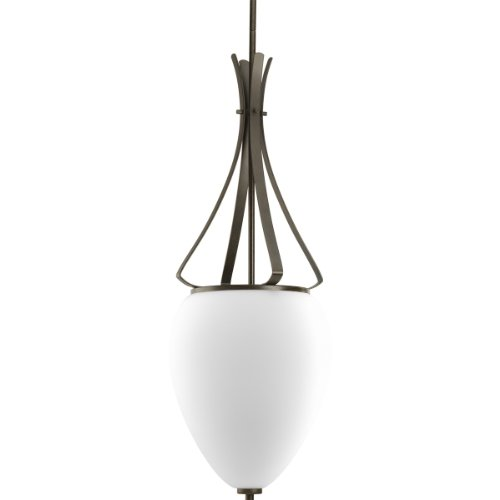 Three Light Bronze Forged Foyer (Progress Lighting P3945-77 Rave Collection 2-Light Foyer Pendant, Forged Bronze)