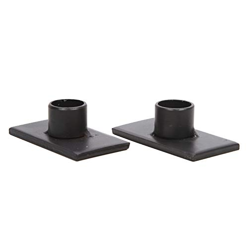 Hosley Set of 2 Black Iron Taper Candle Holder 3 Inches Long Great for Party Spa Gifts Weddings W5 (Black Taper Candles)