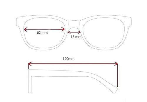 Sol sol Negro Hombre Daksa Gafas Mujer RELAX de Unisex Gafas de R2250 wqgn01Pf