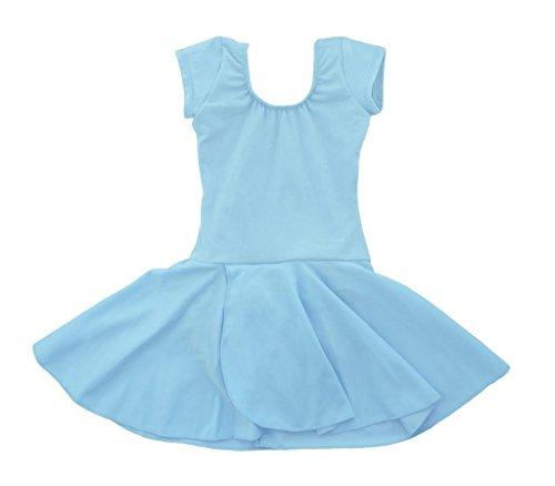 girls ballet skirt light blue - 3