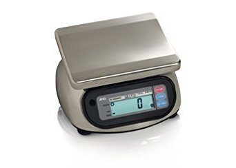 A&D Engineering SK-1000WP Stainless Steel Washdown Scale, NTEP Approved, 1,000g Capacity, 0.5g Increments Digital Washdown Bench Scale