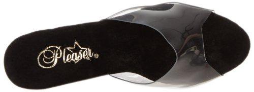 Pleaser Revolver-701 - Sandalias Mujer Negro (Negro (Clr/Blk))
