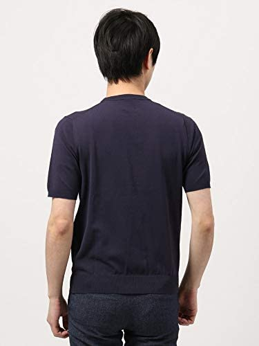(ザ・スーツカンパニー) ウォッシャブル/WE SUIT YOU/コットンブレンド クルーネックニットTシャツ ネイビー
