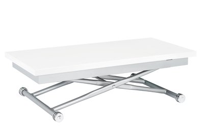 Rise Extending Coffee Table White Amazoncouk Kitchen Home