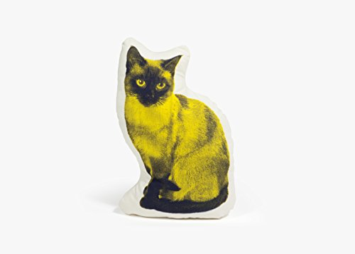 Areaware Siamese Cat Fauna Pillow, Yellow