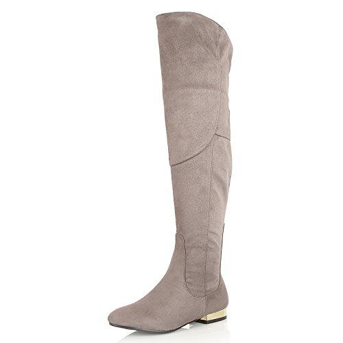 Dolcis WoMen Katie Ankle Riding Boots Grey