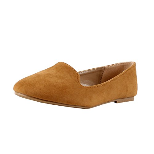 Forever Women's Diana-81 Ballet Loafer-Flats Shoes Tan