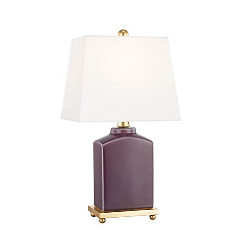"Mitzi Brynn 17"" High Plum Purple Porcelain Accent Table Lamp"