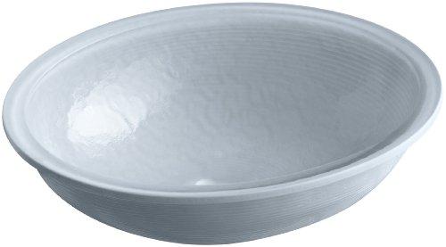 KOHLER K-2741-G1-B11 Whist Glass Undercounter Bathroom Sink In Dusk, Ice