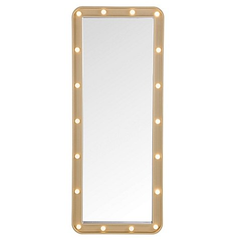 Light-Up Marquee 19.25-Inch x 47.75-Inch Over-the-Door Mirror, 18 LED - Michael Aviator Jackson Sunglasses