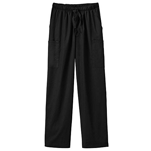 (White Swan Fundamentals 14843 Unisex Five Pocket Scrub Pant Black XS)