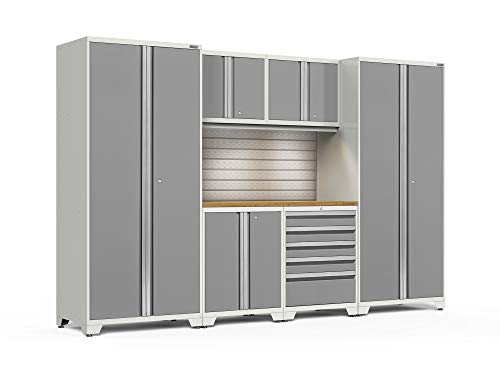 NewAge Products Pro 3.0 Platinum 7 Piece Set, Garage Cabinets, - 7 Piece Garage Cabinet
