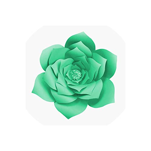 DIY Paper Flowers Wall Decorations Children Photo Background Artificial Flower for Wedding Favors and Gifts Paper Flowers,Light Green - Favor Flowers Wedding Lilly