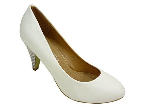 Chaussmaro - Zapatos de Vestir Mujer Blanco - blanco