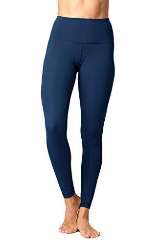 Yogalicious High Waist Ultra Soft Lightweight Leggings - High Rise Yoga Pants - Blue Surf - Medium