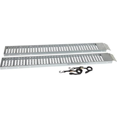 Ironton Non-Folding Steel Ramps - Pair, 6ft.L x 9in.W, 500-Lb. Capacity Per Ramp