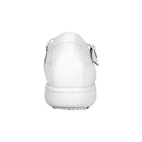 24 Hour Comfort  Susan Women Wide Width Criss-Cross Straps Casual Step-in Shoes White 10.5 by 24 Hour Comfort (Image #3)