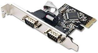 SYBA IO Card SD-PEX15022 2 Port Serial RS-232 PCI Expressx1 Card Retail