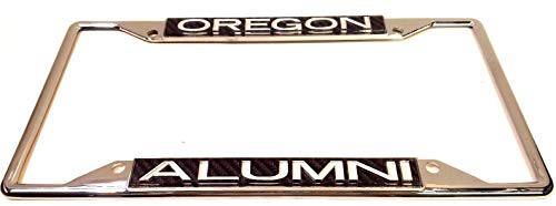 Oregon Ducks Alumni Laser Carbon License Plate Frame 4 ()