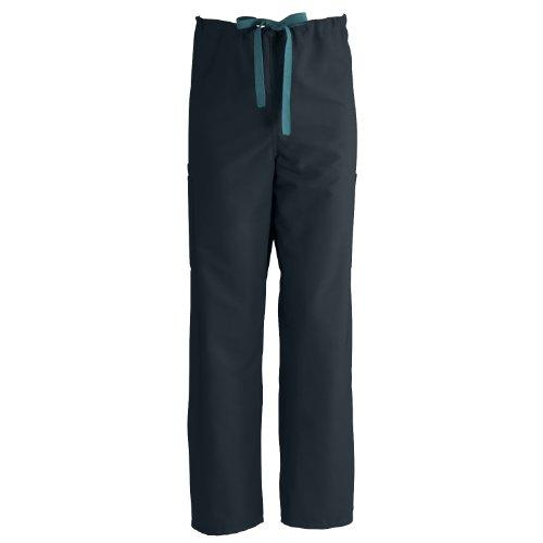 (Medline ComfortEase Non-Rvrsbl Drawstring Cargo Scrub Pant, MDL-CM, XXL, Black )