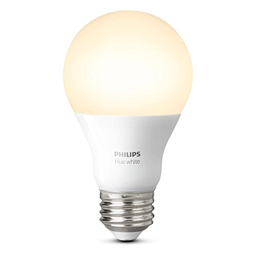 Philips Hue White A19 60W Equivalent Dimmable LED Smart Light Bulb Starter Kit (2 A19 60W White Bulbs and 1 Bridge, Works with Alexa, Apple HomeKit, and Google Assistant (Certified Refurbished) by Philips (Image #1)