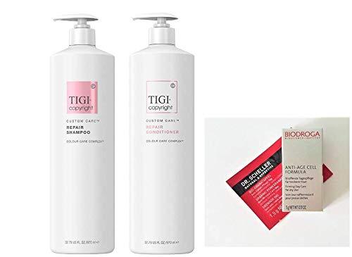 Tigi Copyright Repair Shampoo & Conditioner Liter DUO + 2 Free Samples