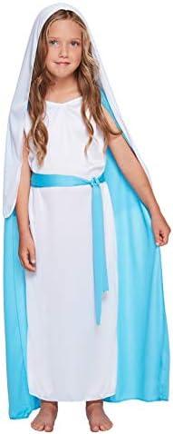 WAM TEXTILES Disfraz de Virgen María para niñas: Amazon.es ...