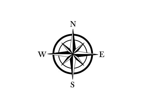 Compass Vinyl Decal, Compass Rose Decal, NESW Decal, Compass Car Decal, Directional Wall Sticker, Compass Wall Decal, North East South West