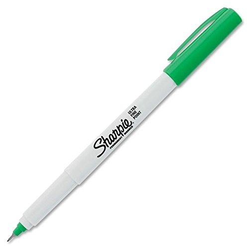 - Bulk Buy: Sharpie (12-Pack) Ultra Fine Point Permanent Marker Open Stock Green SUFL-37114