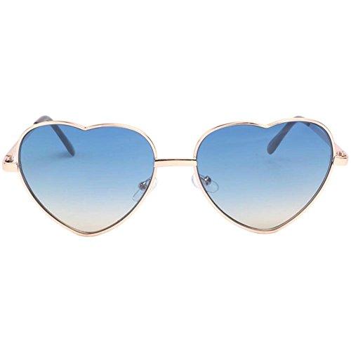 Coeur Lunettes Bleu Lovely Wear Eye Soleil De Femme IwF5qIfHx
