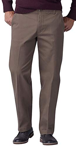 LEE Xtreme Comfort Khaki Stretch Straight Fit Flat Front Pant Woodspice 38x34 ()