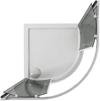 Idralite Box Mampara de Ducha Semicircular 90x90 H185 Transparente 6mm Mod. Ready: Amazon.es: Hogar