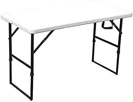 Rekkem Table Pliante Blanche 122 X 61 X 74 Cm Blanc Amazon