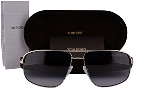 Tom Ford FT0467 Justin Sunglasses Silver w/Blue Gradient Lens 17W ()