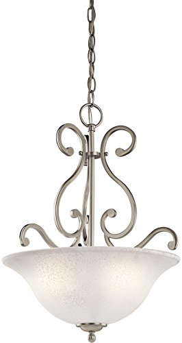 Kichler 43227NI Camerena Pendant 3-Light, Brushed Nickel