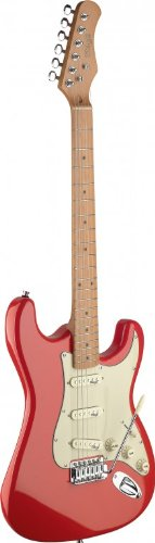 Stagg SES50M-FRD Vintage Style Electric Guitar with Solid Alder Body – Fiesta Red