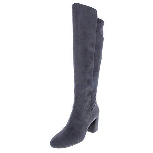 Nine West Women's KERIANNA Knee High Boot, Grey Fabric, 10 Medium US (Over The Knee Wide Calf Boots Size 10)