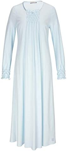 Feraud 3883037-10840 Womens Crystal Blue Cotton Night Gown Loungewear