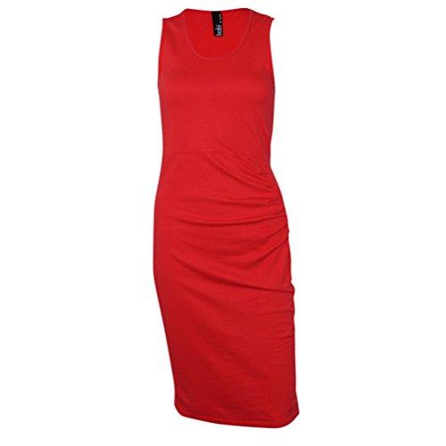 Bobi Womens Dress (Bobi Womens Tank Dress Red Large)