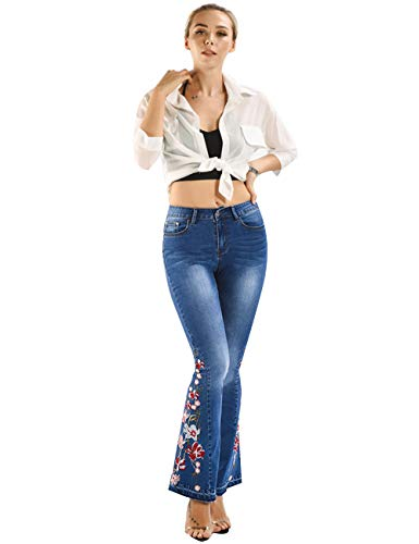 Thumb pic of Women Floral Embroidery Jeans