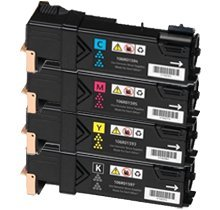Lovetoner Compatible Replacement for XEROX Phaser 6500 High Yield Laser Toner Cartridge Set Black Cyan Magenta Yellow