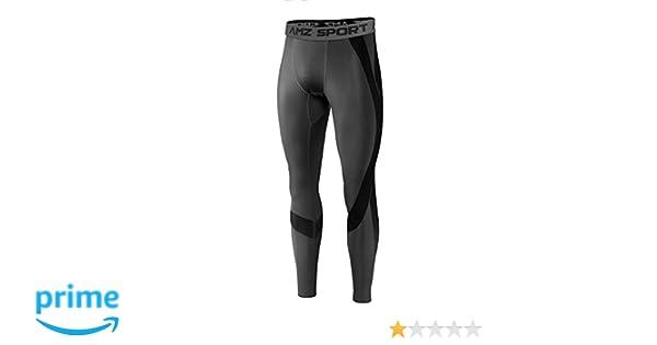 AMZSPORT Pantalones Deportivos de Entrenamiento para Hombre Medias de Compresi/ón de Secado R/ápido Pantalones de Entrenamiento de Base