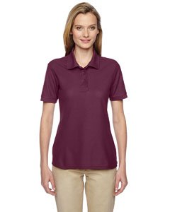 Jerzees Easy Care Ladies' Pique Sport Shirt (Maroon) (L)